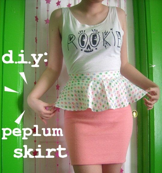 DIY Detachable Peplum Skirt - Rookie Mag. This has the best instructions, and the most attractive end result.