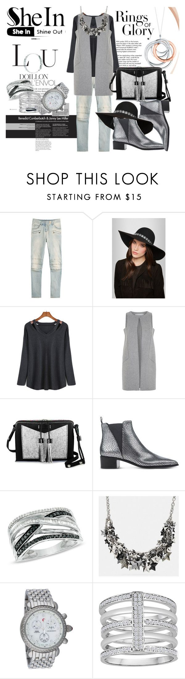 Untitled #180 by denisa-marcu on Polyvore featuring Amanda Wakeley, Balmain, Acne Studios, Carianne Moore, Michele, Coach, Yves Saint Laurent and Tiffany & Co.
