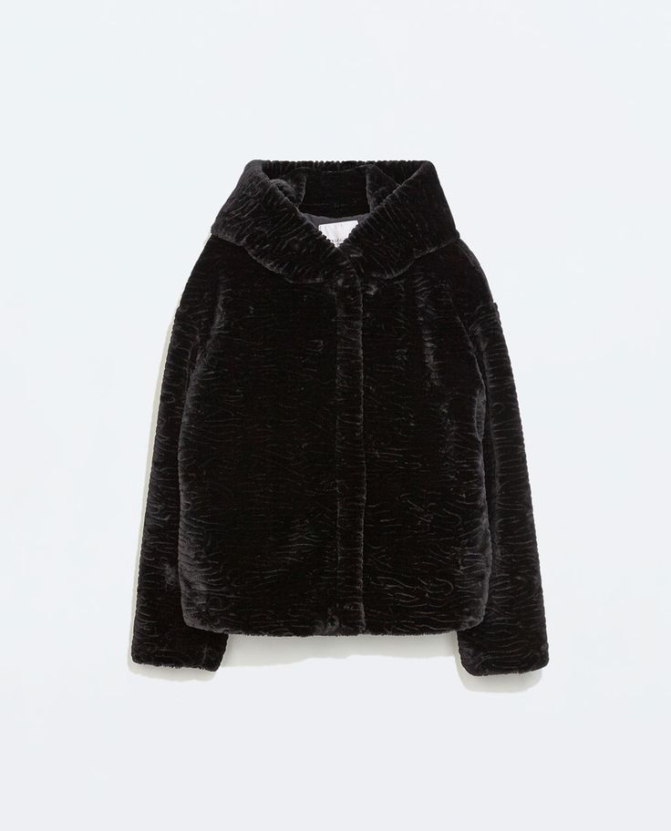 Image 6 of JACKET WITH FUR HOOD from Zara