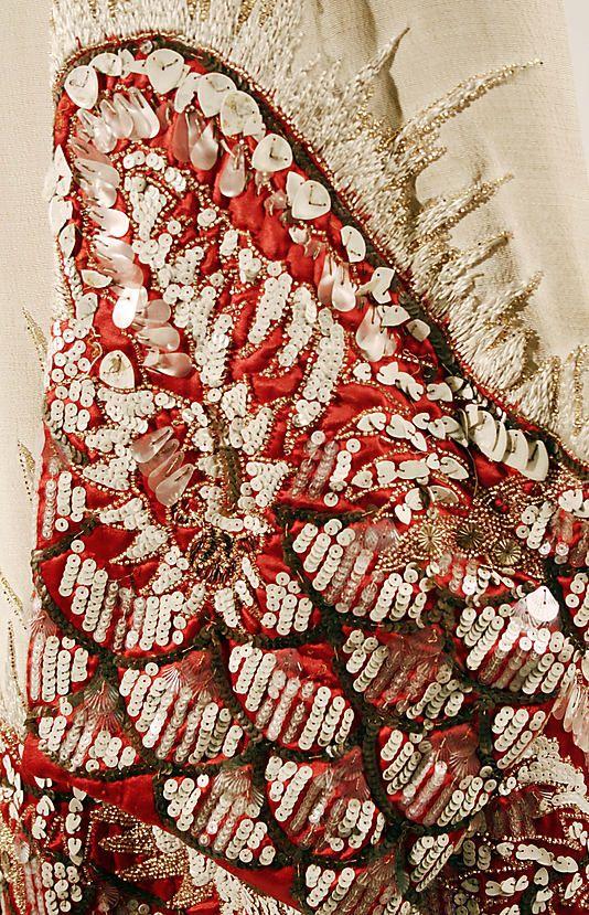 Evening coat Date: ca. 1927 Culture: French Medium: silk, plastic, glass. Detaile