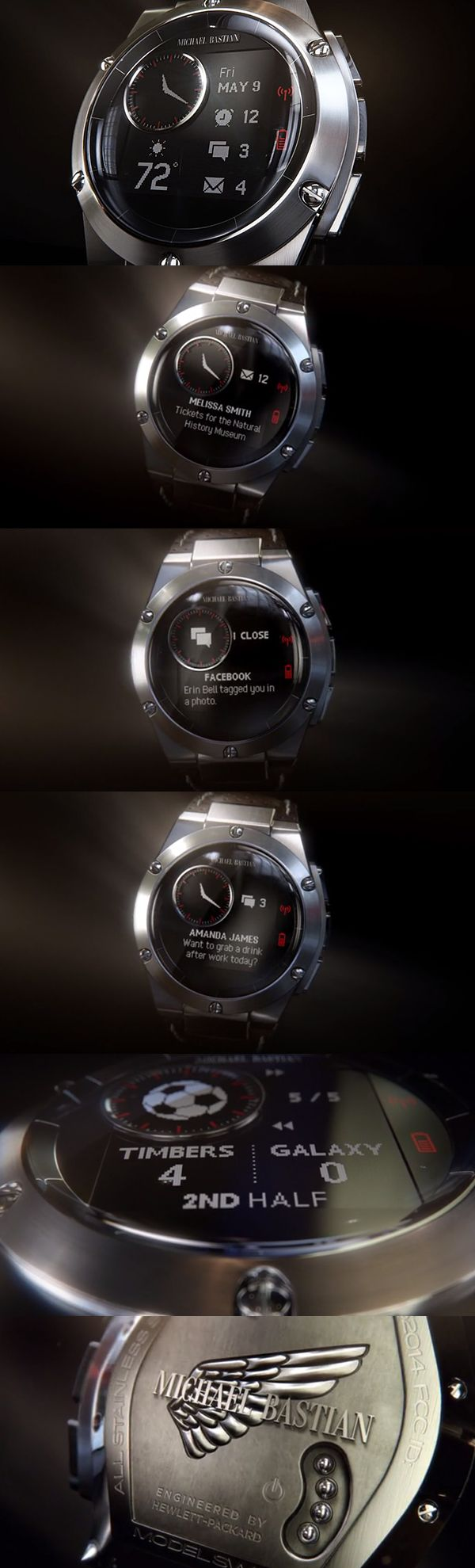 HP's fashion-friendly smartwatch designed by Michael Bastian.