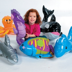 6 JUMBO INFLATABLE SEA LIFE CREATURES/Animal/Fish/Birthday Party Favor/Décor on eBay!