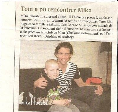 """Tom a pu rencontrer Mika"" - French - June 2010"