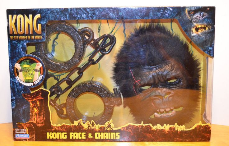 KING KONG MOVIE FACE & CHAINS MASK COSTUME PLAYSET MISB PLAYMATES 2005 MONSTER #PLAYMATES