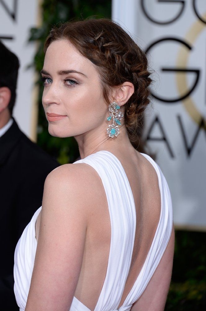 Emily Blunt at an event for 72nd Golden Globe Awards (2015)