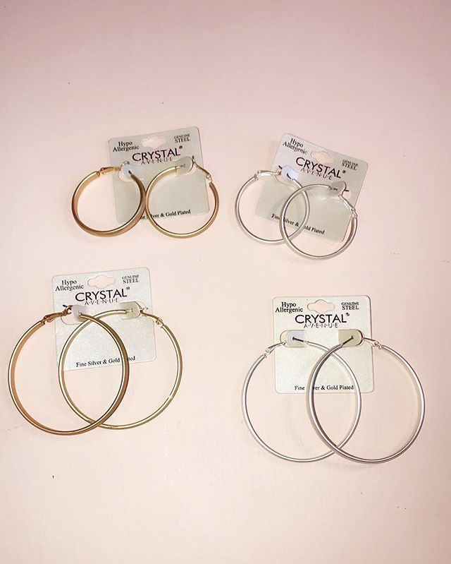 The famous hoops are back in stock! We have large and small hoops in gold and silver! Come in and grab yours today - We are open until 7  #stellalouiseboutique #hereingreer #shopwithus