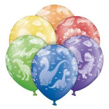 Μπαλονια τυπωμένα με θέμα δεινόσαυρους (6τεμ)