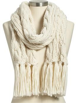 Women's Cable-Knit Scarves | Old Navy