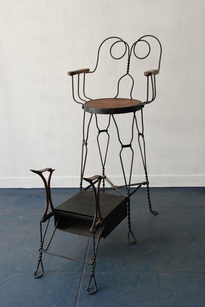 An American shoe shine chair,
