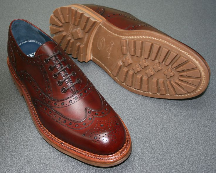 Barker Boyd in Cherry Calf.  Stunning premium brogue with a Goodyear 12mm Welted Sole.    http://www.robinsonsshoes.com/barker-boyd.html