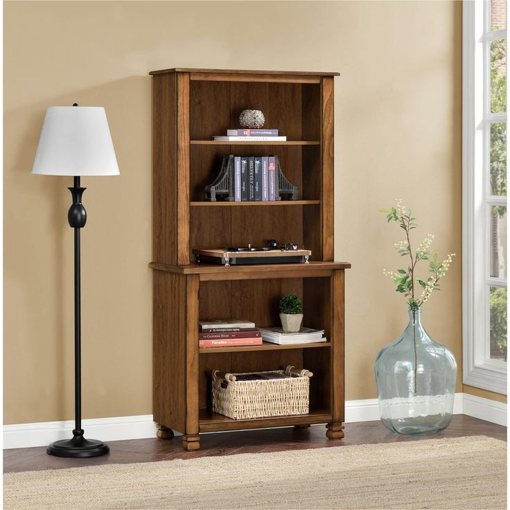 Ameriwood Home San Antonio Wood Veneer Bookcase (Bookcase, tuscany oak), Brown