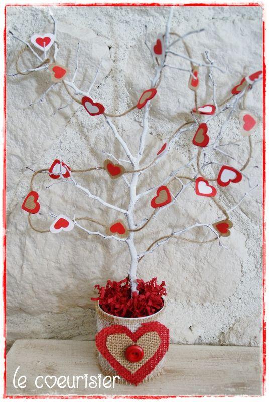DIY déco Saint Valentin : le coeurisier ou arbre à coeur