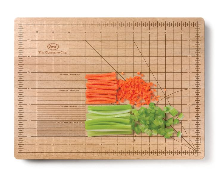 OBSESSIVE CHEF CUTTING BOARD | Ruler, Grid, Wood Cutting Board | UncommonGoods