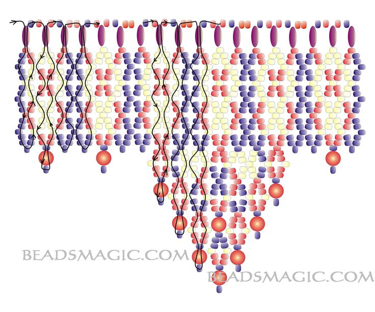 Free pattern for necklace Folk Dance | Beads Magic