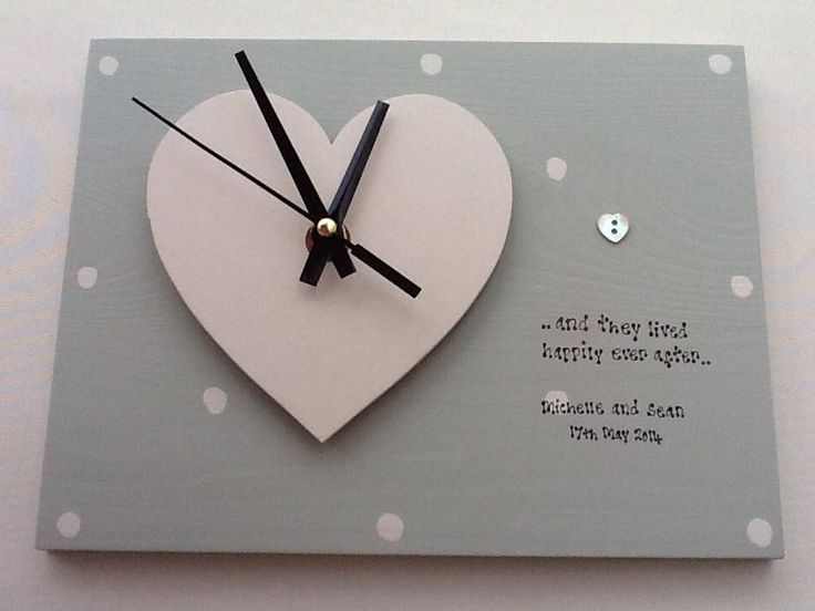 details about shabby personalised gift chic clock special wedding gift bride groom present