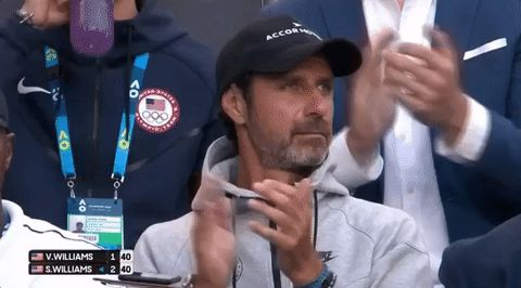 New party member! Tags: tennis applause clapping clap australian open aussie open australian open 2017 2017 womens singles final patrick mouratoglou mouratoglou