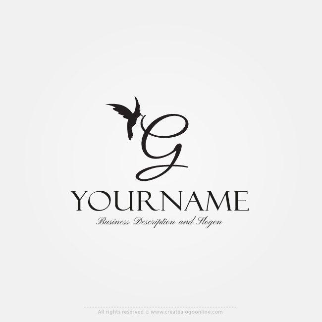 Online Free Logo Maker Initial Bird Logo Design Letter Logos