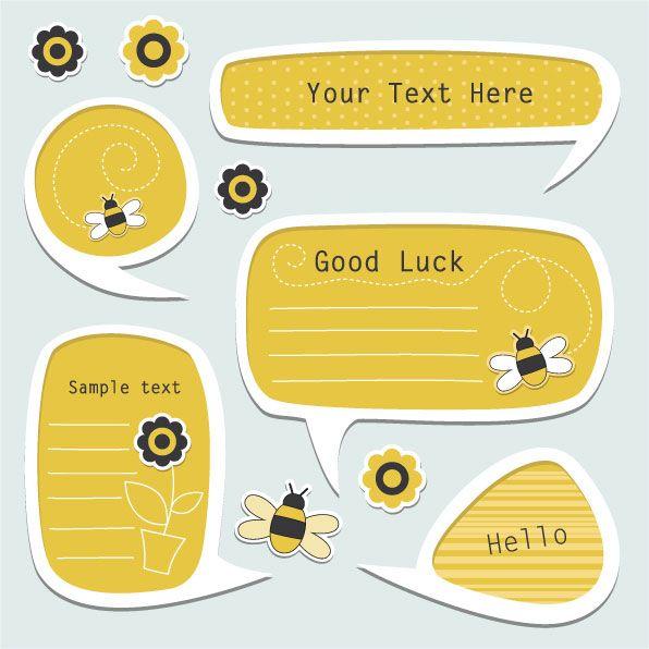 Globos de diálogo estilo stickers en vector - Puerto Pixel | Recursos de Diseño