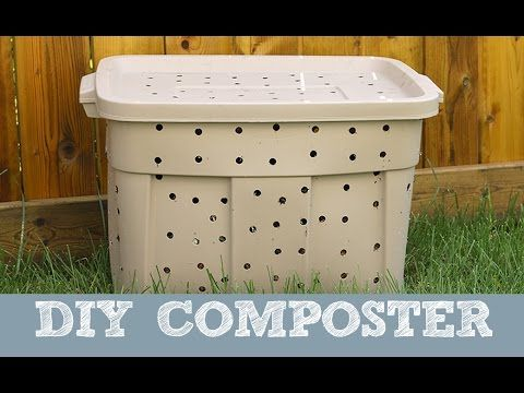 Do you compost? Or perhaps thinking of trying it? Here's a GREAT way to make your own composter using a Rubbermaid container. I tried it this year & it works so well. Don't know why I didn't think of it sooner. Happy Gardening!