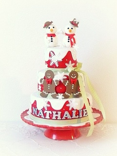Christmas birthday cake by Alma Streefkerk, via Flickr