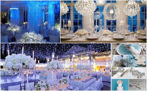 Zimowe śluby w niebieskiej, mocno...