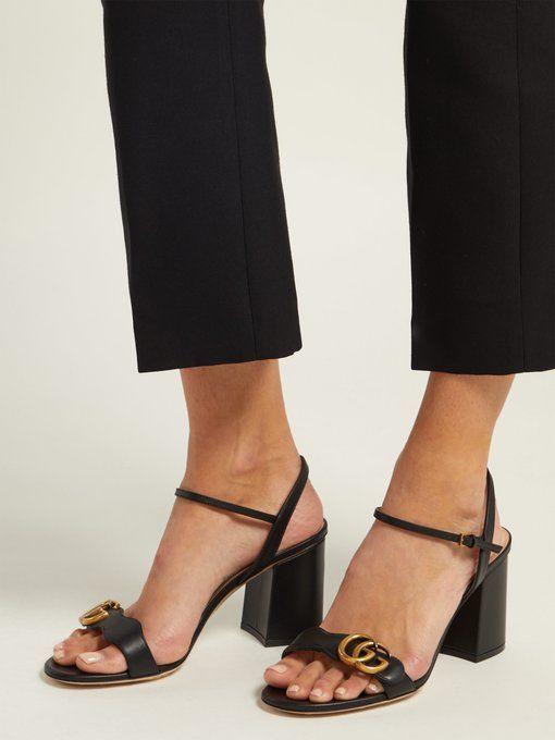 e604b012de Gucci GG Marmont block-heel sandals   WISHLIST in 2019   Heels ...