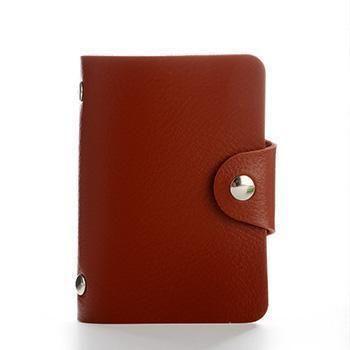 Maras Dream 24 Bits Women Men Credit Card Holder PU Leather Hasp Unisex ID Holde