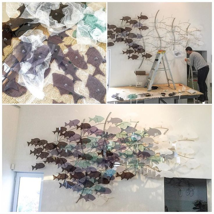 Yesterday's installation was lots of fun and the piece is looking great. Thanks for the help Adrian. #sculpture #art #fineart #installationart #stainlesssteel #plexiglass #fish #seafaring #installation #artist #capetown