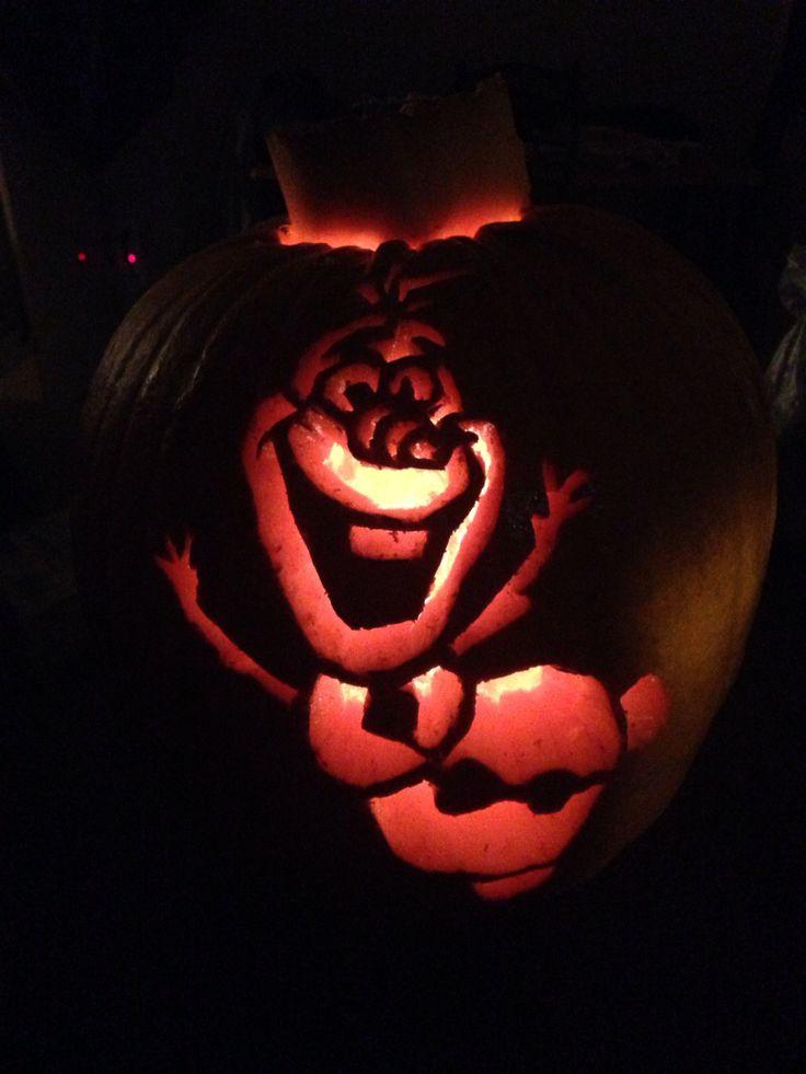 Olaf pumpkin halloween pinterest