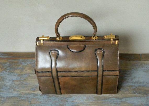 Borsa vintage anni '50 tipo valigetta del dottore by elycreation