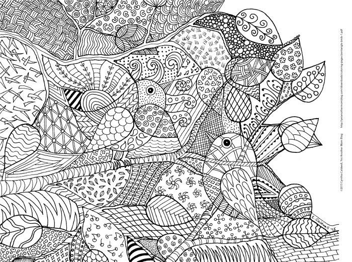 free coloring pages for april 2015 geometric patterns zentangle birds