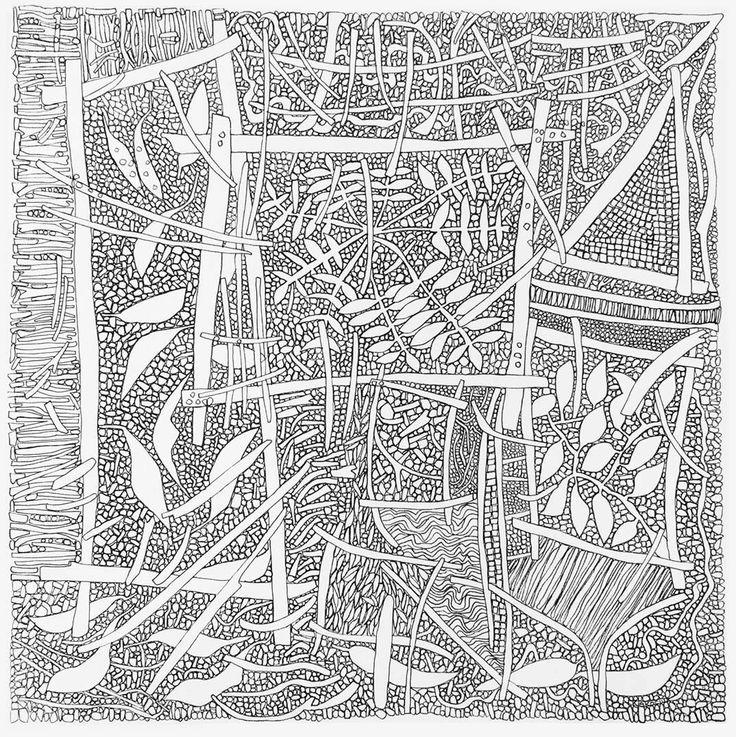 Ground Lake St Clair by Richard Klekociuk. 2015. Archival ink on canvas. 60 x 60cm. $800.