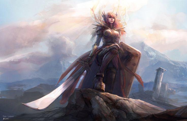 League of Legends - Leona by ~EwaLabak on deviantART