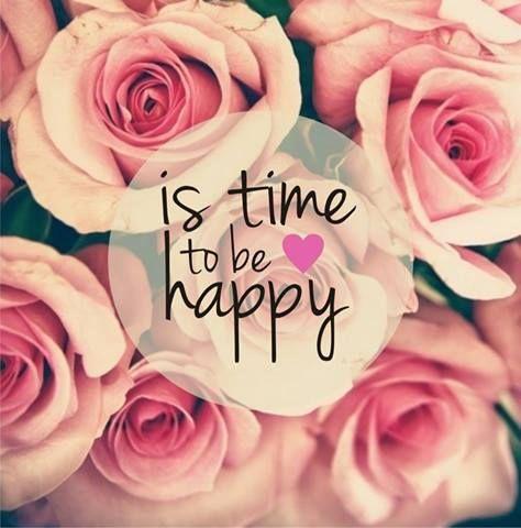 Es hora de ser feliz
