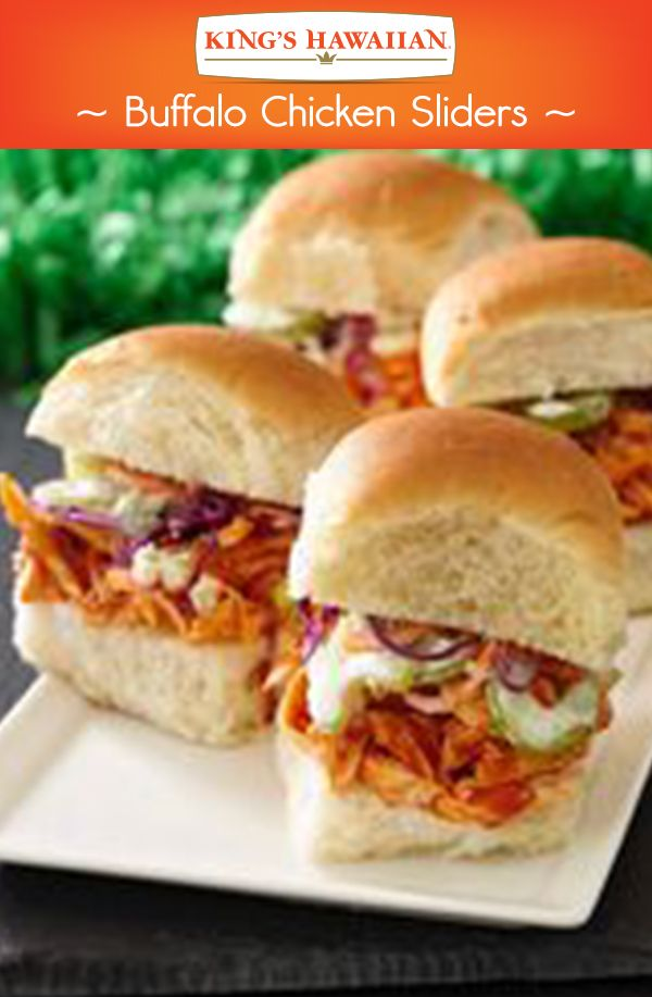 Hot wings in the form of a slider made specially for the big game.