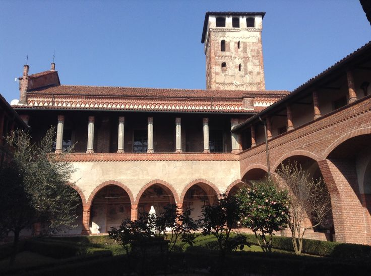 Il chiostro dell'abbazia