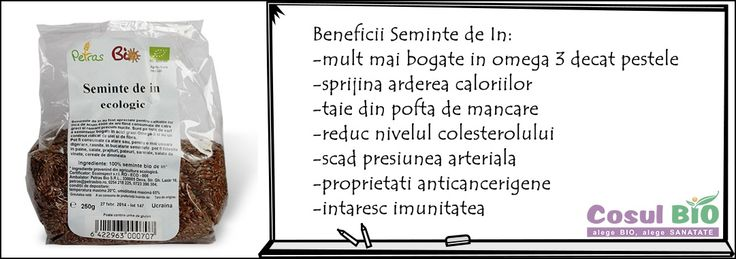 Beneficii seminte de in. http://www.cosulbio.ro/cumpara/seminte-in-bio-1530209