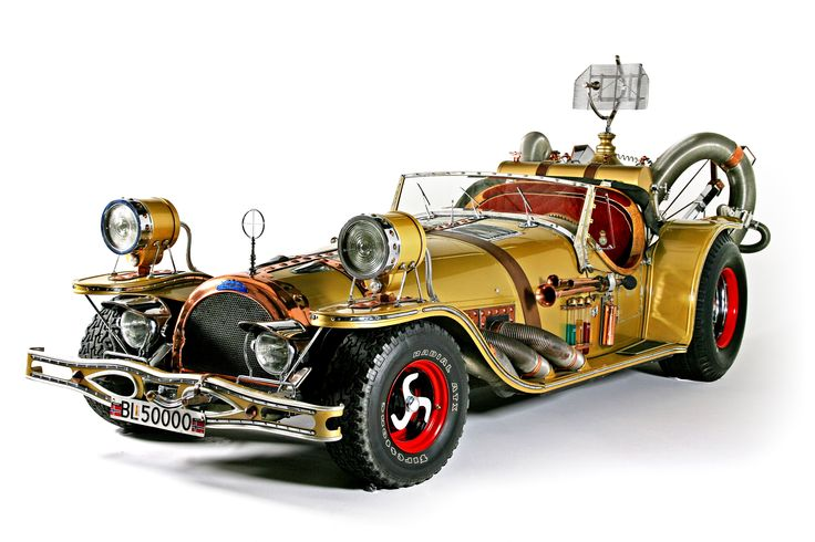 """The amazing, steampunk-ish """"il Tempo Gigante"""". Real-life replica of a car from a Norwegian animated movie (Flåklypa Grand Prix/Pinchcliff Grand Prix) made in 1975.  (3504×2336)"""
