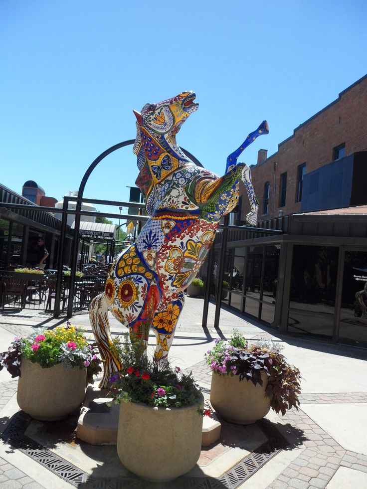 Old Town of Fort Collins. Check out this list of the top 10 statues around FoCo!