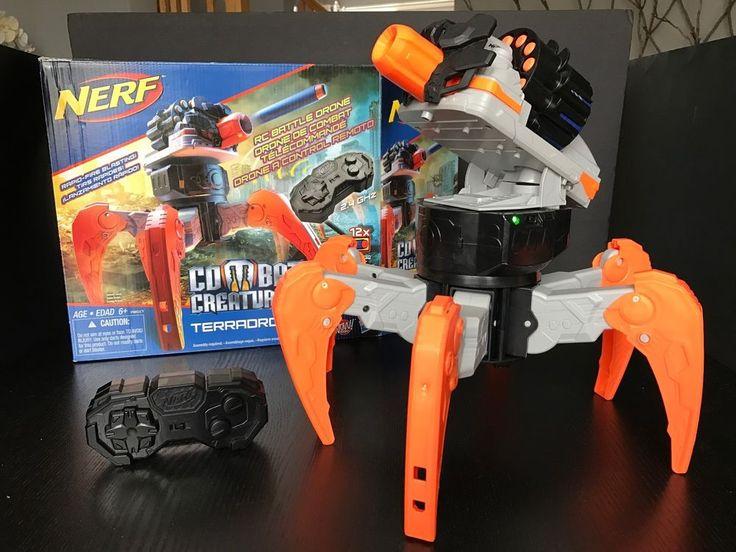 Nerf Combat Creatures TerraDrone RC Combat Robot Darts Shooter Toy Excellent #Nerf
