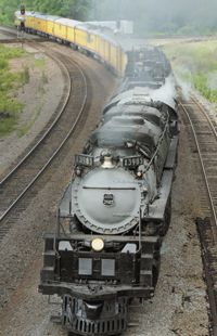 Built in 1943, No. 3985 was one of 105 Challenger class locomotives built for Union Pacific ...