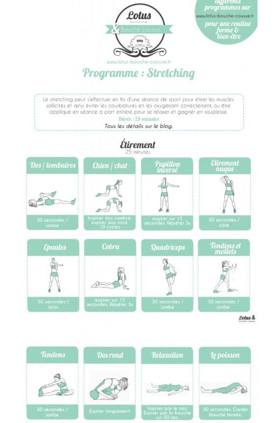 Programme de stretching / étirements