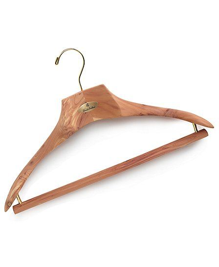 Brooks Brothers Premium Cedar Hanger - Protect and freshen your clothes.