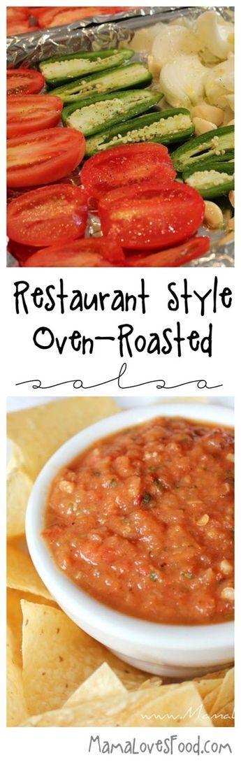 Restaurant Style Roasted Tomato and Garlic Salsa