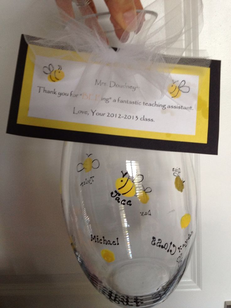 Thanks for BEE-ing a great teacher - 23 DIY Christmas Gifts for Teachers From Kids