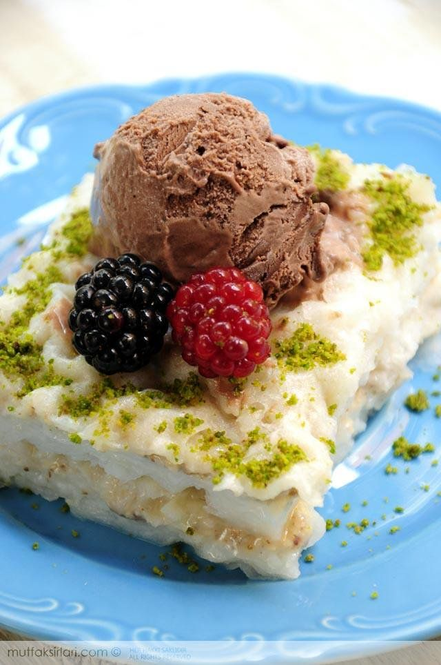 Dondurmalı Pudingli Güllaç | Mutfak Sırları
