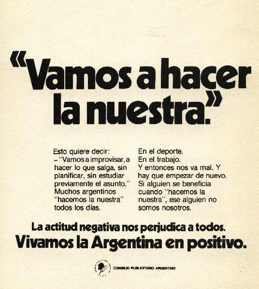 """""""Vivamos la argentina en positivo 5""""-1976"""