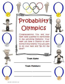 Probability Olympics Games, Lessons, Activities Common Core Aligned. $