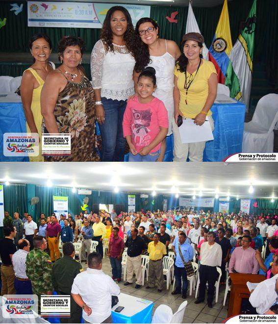 CASA DE NARIÑO, MINISTERIO DEL INTERIOR, GOBERNACIÓN DEL AMAZONAS, LE CUMPLIERON AL EXITOSO FORO AMAZONAS EN PAZ DEL 22 DE ABRIL DE 2016