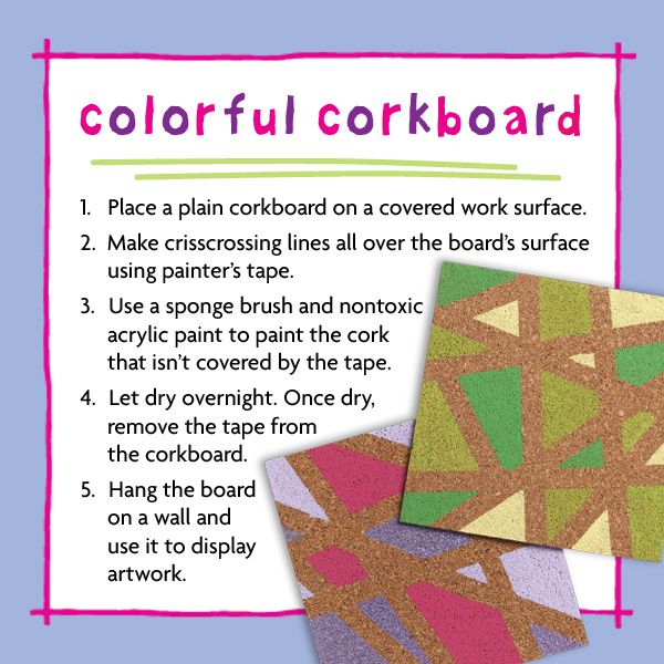 Colorful Corkboard Craft